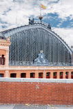Architecture detail of Atocha train station in Madrid Stock Image