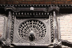 Architecture detail in Bhaktapur Durbar Square, Nepal Stock Photography