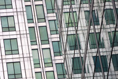 Architecture detail of Canary Wharf. Royalty Free Stock Image