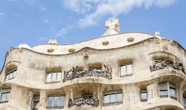 Architecture detail of Casa Mila, better known as La Pedrera, in Royalty Free Stock Images
