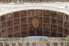 Architecture detail, Castel Nuovo, Naples Italy royalty free stock photo