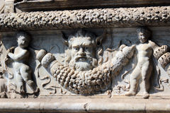 Architecture detail, Castel Nuovo, Naples Italy royalty free stock image