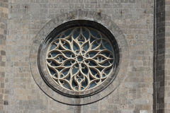 Architecture detail at Castel Nuovo, Naples Italy royalty free stock photo