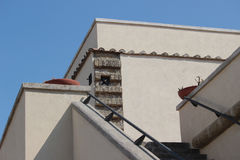 Architecture detail at Castel Sant'Elmo, Naples Italy Royalty Free Stock Photography