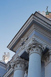 Architecture detail from the catholic cathedral in city Arad Stock Photos