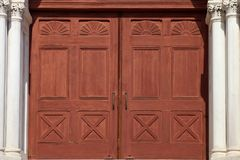 Architecture Detail of Church Doors Royalty Free Stock Photography