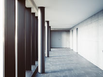 Architecture detail Columns Modern Building Minimal space Stock Image