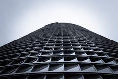 Architecture detail of Cuatro Torres Business Area (CTBA) buildi stock photo