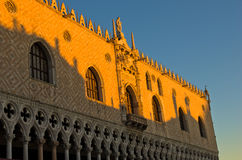 Architecture detail of Doges Palace at piazza San Marco in Venice Royalty Free Stock Photos