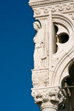 Architecture detail of Doges Palace in Venice Royalty Free Stock Photography