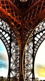 Architecture detail of Eiffel tower in Paris Royalty Free Stock Photos