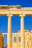 Architecture detail of Erechteion temple in Acropolis Stock Photography