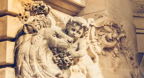 Architecture detail of the facade of the Discovery Palace. Architecture detail of the facade of the Palace of Discovery Palais de la découverte in Paris, France Royalty Free Stock Image