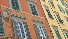 Italian architecture. Architecture detail in a italian town(Pisa Royalty Free Stock Photos