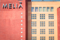Architecture detail of the luxury MELIA hotel Royalty Free Stock Photo