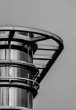 Architecture detail of a modern building in black and white Royalty Free Stock Photography