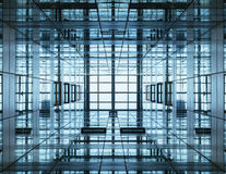 Architecture detail Modern Building with Glass Facade. Futuristic design Stock Photos