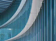 Free Architecture Detail Modern Building Glass Wall Designn Curve Pattern Stock Images - 169480544