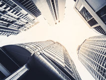 Architecture detail Modern Exterior building skyscraper Stock Image