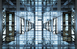 Free Architecture Detail Modern Geometric Glass Steel Facade Building Royalty Free Stock Photos - 75827088