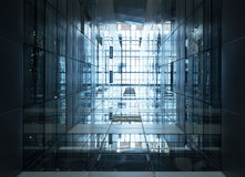 Architecture detail Modern Glass Steel Building facade Stock Image