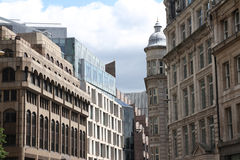 Architecture detail modern and old buildings, London. Royalty Free Stock Photography