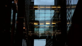 Architecture Detail from Office Building in London stock video footage
