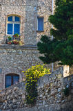 Architecture detail of old stone buildings in Cagliari downtown, Sardinia Royalty Free Stock Image