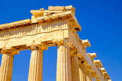 Architecture detail of Pantheon temple in Acropolis Stock Image
