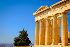 Architecture detail of Pantheon temple in Acropolis Royalty Free Stock Photos