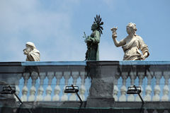 Architecture detail, Piazza Dante, Naples Italy Royalty Free Stock Image