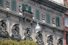 Architecture detail, Piazza Vincenzo Bellini, Naples Italy Royalty Free Stock Image