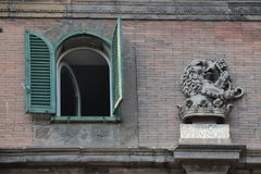Architecture detail, Piazza Vincenzo Bellini, Naples Italy Royalty Free Stock Photos