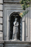 Architecture detail, Piazza Vincenzo Bellini, Naples Italy Stock Photos