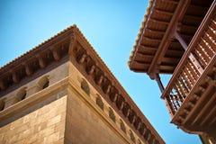 Architecture detail in Poble Espanyol Stock Photos