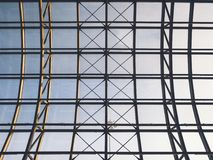 Architecture detail Roof steel construction Modern Building Exterior royalty free stock image