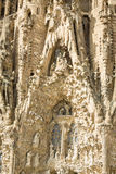 Architecture detail of the Sagrada Familia cathedral, in Barcelo Stock Images