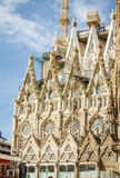 Architecture detail of the Sagrada Familia cathedral, in Barcelo Stock Photo