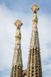 Architecture detail of the Sagrada Familia cathedral, in Barcelo Stock Photography