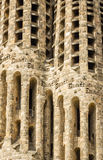 Architecture detail of the Sagrada Familia cathedral, in Barcelo Royalty Free Stock Images