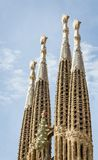 Architecture detail of Sagrada Familia cathedral Royalty Free Stock Photography