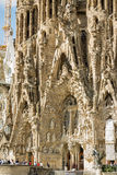 Architecture detail of the Sagrada Familia cathedral, designed b royalty free stock images