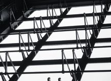 Architecture detail Steel window frame pattern building interior. Construction Stock Photography