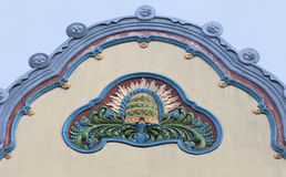 Architecture detail in Subotica, Serbia. Architecture detail in art nouveau style, Subotica, Serbia Stock Images