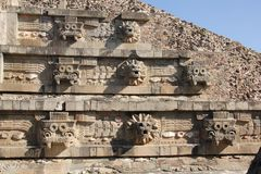 Architecture detail at Teotihuacan, Mexico Royalty Free Stock Images