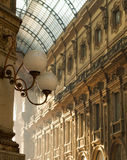 Architecture detail of Vittorio Emanuele Gallery Royalty Free Stock Images