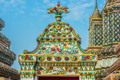 Architecture detail Wat Pho temple bangkok thailand Stock Image