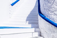 Architecture detail of white stairs in Mediterranean style Royalty Free Stock Photo