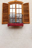 Architecture Detail Window with shutters Stock Photos