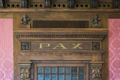 Architecture detail with word: PAX Royalty Free Stock Images